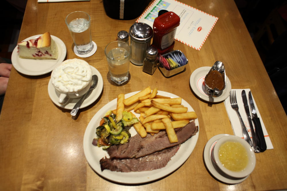 Essen in USA - Oft mit Pommes - Beef Briskett